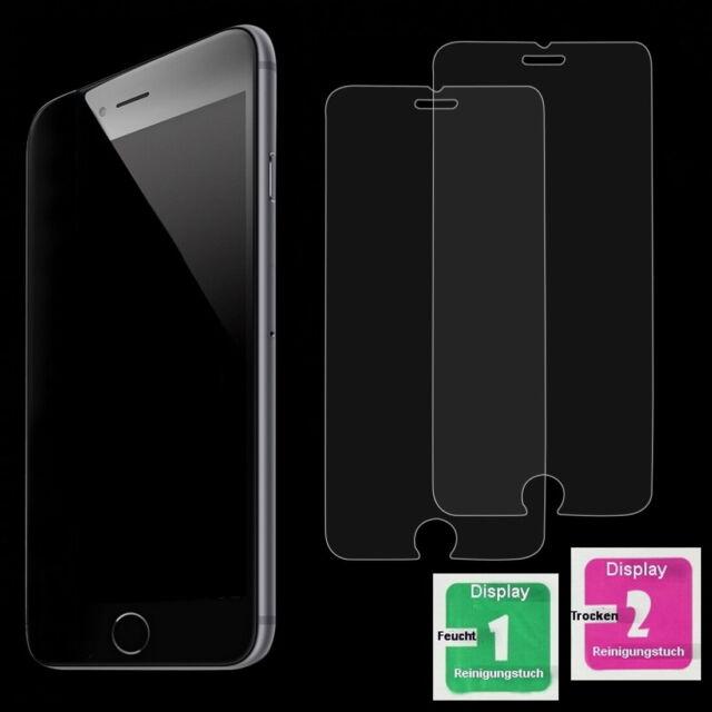 2x Apple iPhone 6 iPhone 6S Schutzfolie 9H Echt Glas Panzer Glasfolie Schutzglas