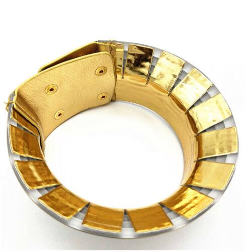 Africain bijoux collier bobine métallique réglable tour de cou Maxi col chaud