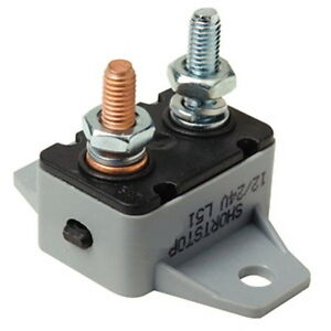 12 or 24 Volt 50 Amp Manual Reset Circuit Breaker for Boats and Trolling Motors