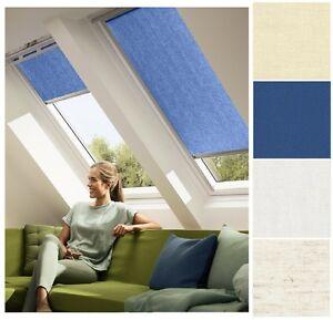 mittelblau Dachfensterrollo Sichtschutz für Velux Dachfenster GGU//GPU//GHU