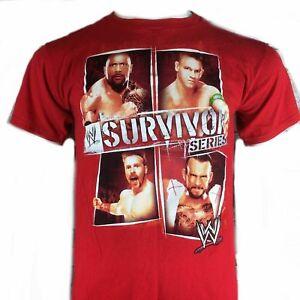 WWE Survivor Series t-shirt Child 4 5 XS  6 7 S 10 12 L John Cena The Rock New