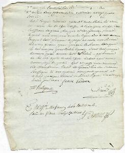 1791 manuscript notary document amazing freemason signature stamps VINTAGE