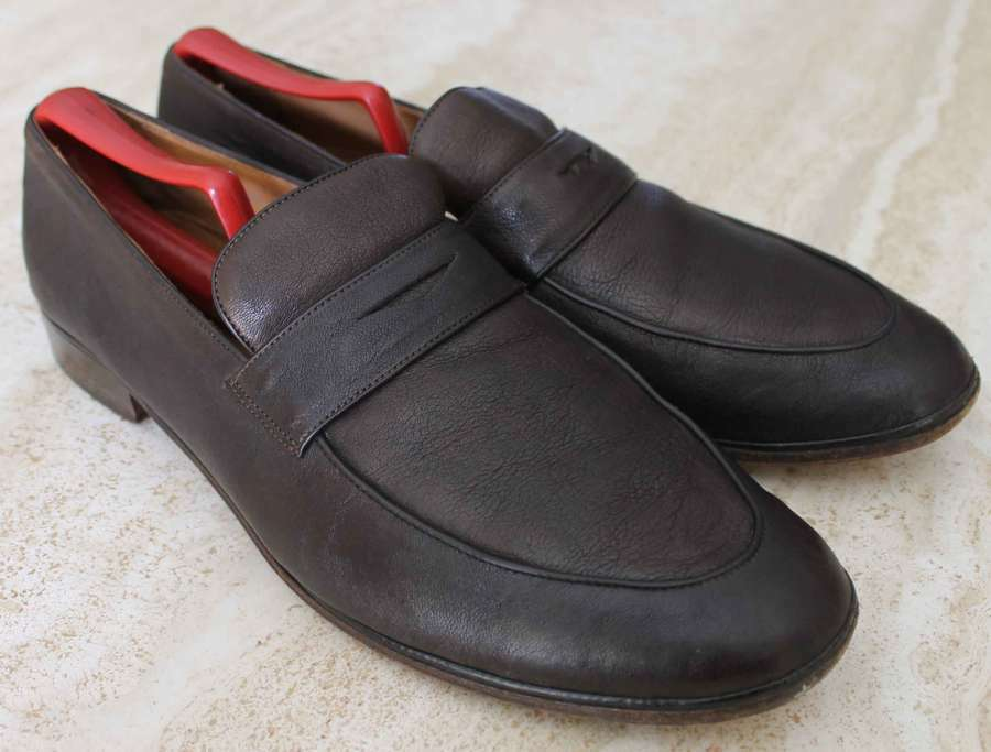 vendita online risparmia il 70% JOHN VARVATOS Marrone LEATHER PENNY LOAFERS LOAFERS LOAFERS   scarpe   Uomo SZ 10.5 D - MADE ITALY  incredibili sconti