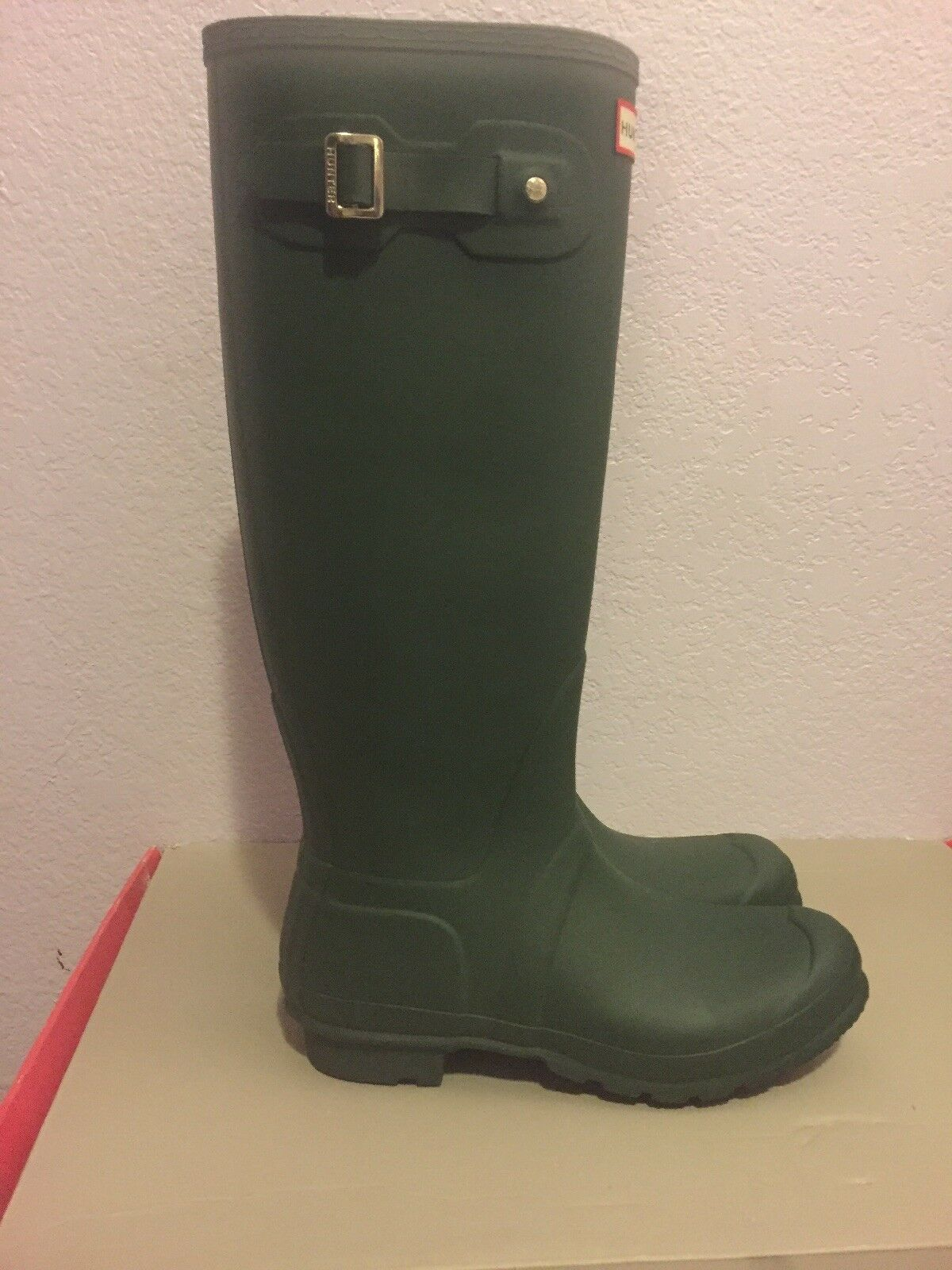 NIB Hunter Women's Original Tall Rain Rain Rain Rubber Boots in Green NEW in Box Size 9 080d7b