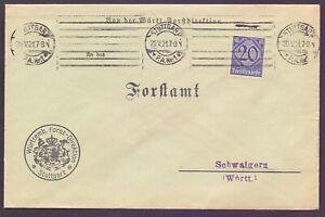 Dt-Reich-Dienstbrief-1921-Einzelfrankatur-MiNr-D-26-Michel-140-00-980