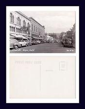 CALIFORNIA NAPA FIRST STREET ZAN STARK REAL PHOTO N-21 KODAK BACK CIRCA 1950