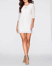 Spitzenkleid Gr. 44 46 cremeweiß Minikleid 3/4 Arm Cocktailkleid Kleid