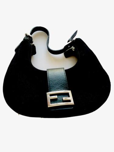 vintage fendi baguette bag Black