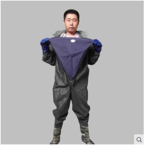 Fishing Diving Overall Suit Breathable Waders Adult Unisex Swimming Rubber Hood