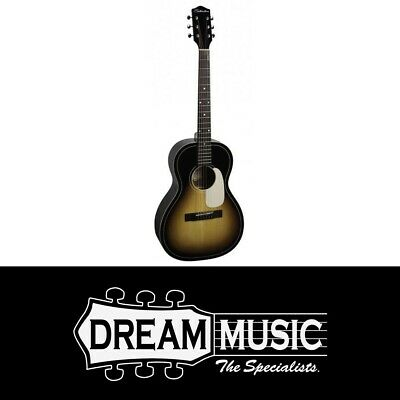 Musical Instruments & Gear Capable Silvertone Solid Top Parlour Acoustic Guitar Avs Save $150 Off Rrp$499 Pure White And Translucent Acoustic Electric Guitars