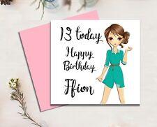 Item 3 Personalised Birthday Card Daughter Sister Niece Granddaughter Teen 13 16 18 21