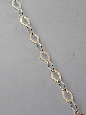 10 cm catena  argento 925 dorata anellini  alternati a zigrinati di 4x0,5 mm