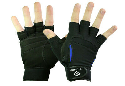 SRG Bionic Men/'s Relief Grip Fitness Fingerless Gloves Free Fast Shipping
