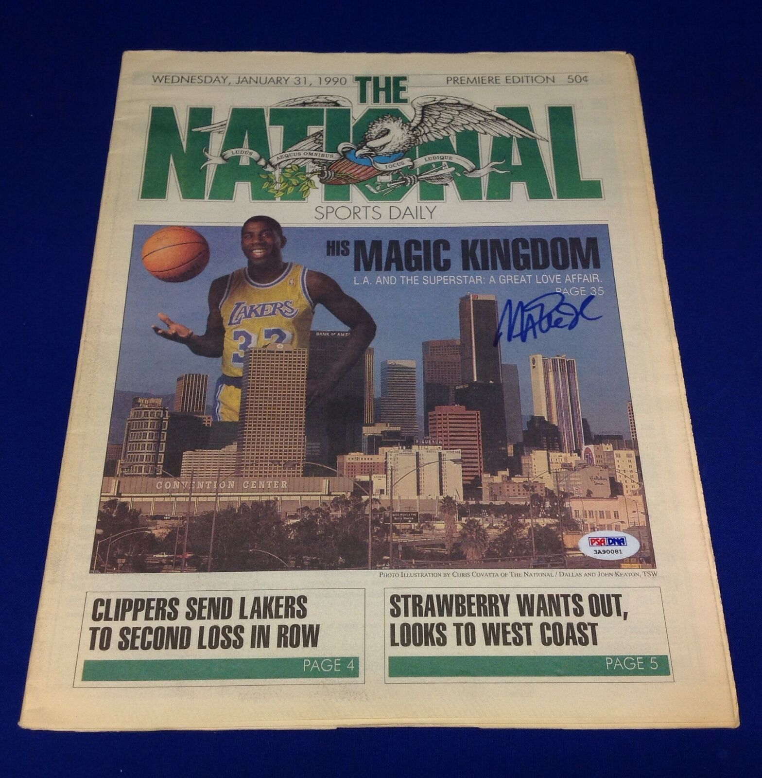 Magic Johnson signed The National Premiere Edition 1/31/1990 PSA/DNA # 3A90081