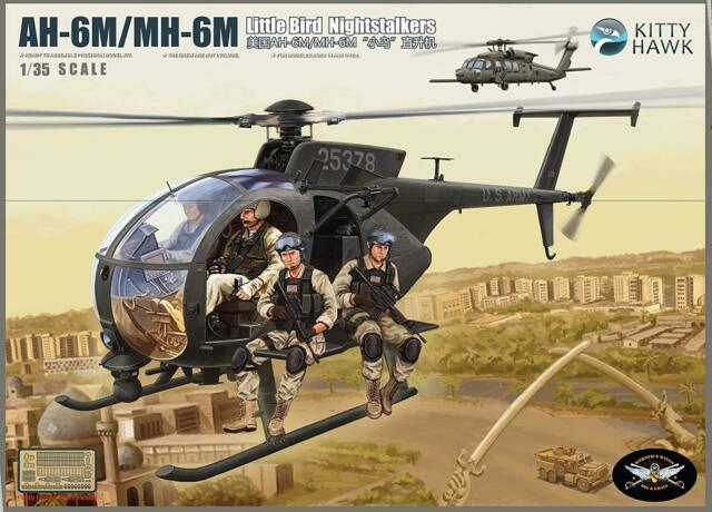 KH50002 1/35 Kitty Hawk AH-6M/MH-6M Night Talker Model Kit / With Resin Figures