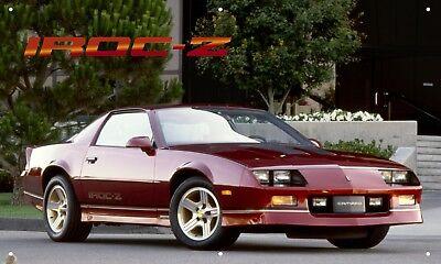 Iroc-Z Camaro 3/'X5/' VINYL BANNER MAN CAVE 80/'s MUSCLE CAR VINTAGE AMERICA V8 Z28