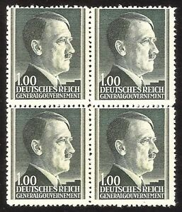 DR-Nazi-3d-Reich-Rare-WW2-Stamp-Hitler-Head-Nazi-Service-in-Occupation-Poland-GG