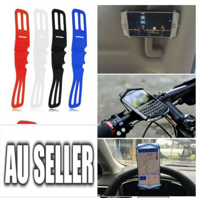 Silicone Elastic Bicycle Motorcycle Bike Handlebar Mount Holder For Mobile Phone