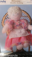 """Wendy 5070 knitting pattern Doll 40.5cm /16"""" high Shown in shimmer/ double knit"""