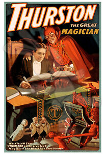 Details about Magic Poster Howard Thurston-Thurston the great magician-With  the Devil