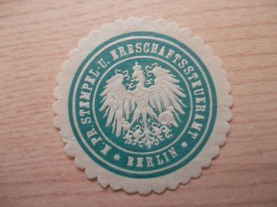 12787 Stempel U Pr K Streng Siegelmarke Erbschaftssteueramt Berlin
