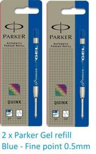 3 X PARKER quink ink Cartridges refills Genuine Fits parker fountain pens  BLUE