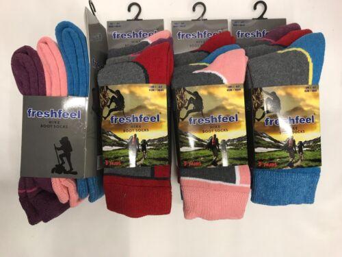 Ladies New Hike Cushioned Heavy Duty Rich Warm Boot Sock UK Size 4-7 Lot L 778
