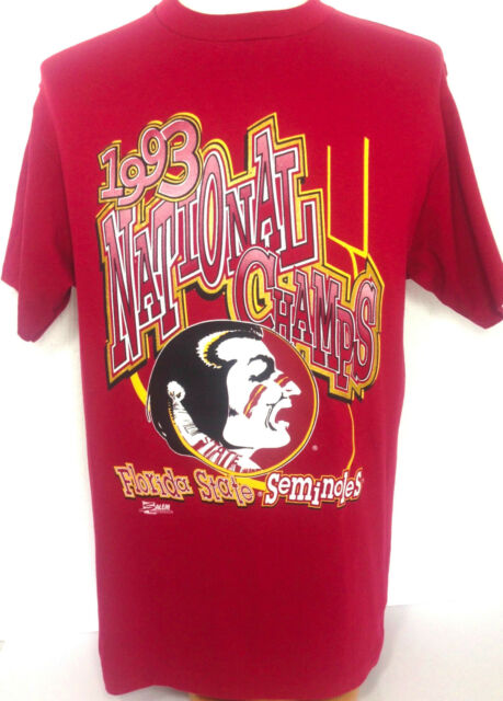 Florida State Seminoles T Shirt 1993 National Champs Red Cotton Mens Large