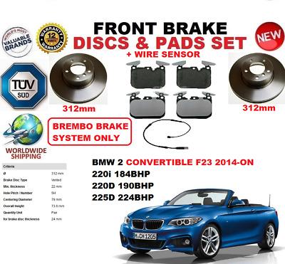 PADS KIT SENSOR FOR BMW 3 F31 ESTATE 2011-ON 312MM FRONT BRAKE DISCS SET