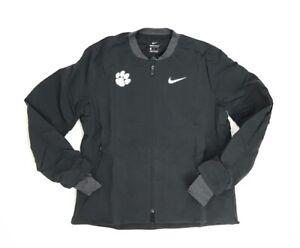 65a6003e57d1 New Nike Clemson Tigers Shield Bomber Jacket Women s Medium Black ...