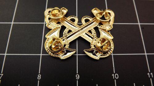 "Lapel pin NEW Badge USN Navy Warrant Officer 2-1//4/"" Brass BRAND NEW"