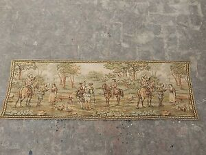 Vintage French Beautiful Scene Tapestry 47x143cm A999