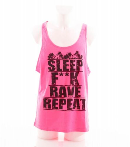 VSCT Fluo Logo Message Tank pink