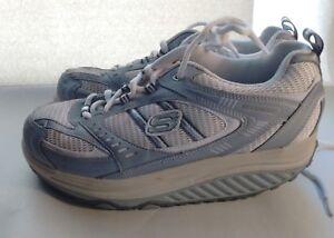 Details about Skechers Shape Ups Tan Leather Lace Ups Fitness Walking Women's Shoes 8.5 M 38.5