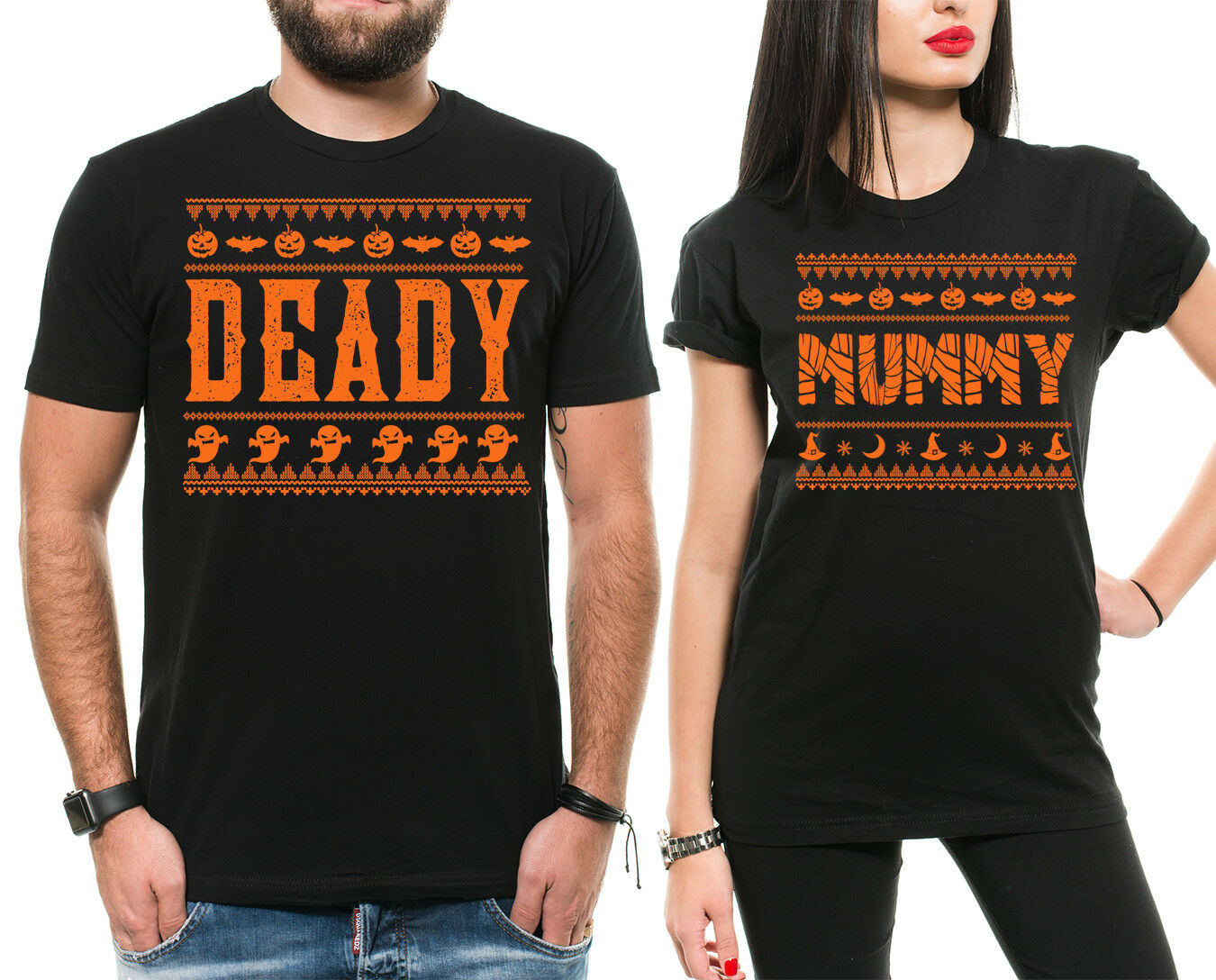 new arrival 5e99a 50eff Couple Dad Mom Shirts Funny Halloween Shirts for Parents Halloween  ocelip21100-T-Shirts