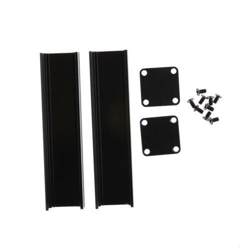 100*25*25mm Extruded PCB Aluminum Box Black Enclosure Electronic Project Case C1