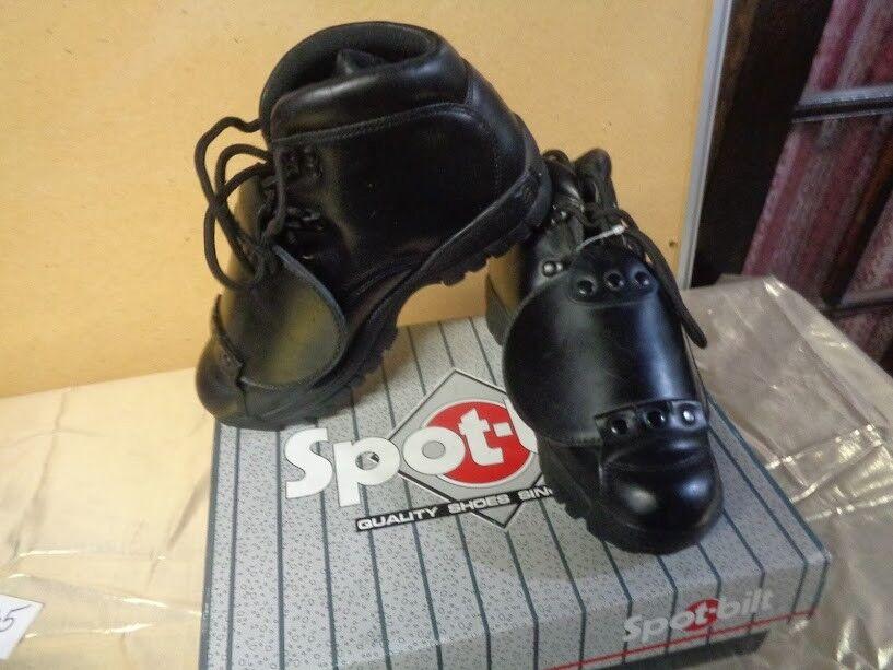 Spot Bilt Unpire Mens Black shoes U55 Size 8