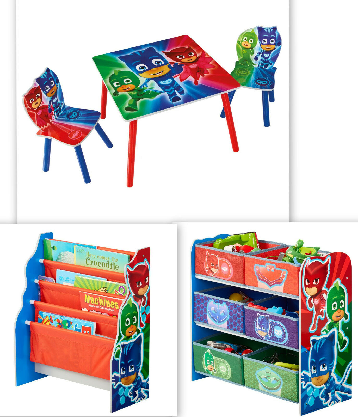 PJ Masks Auswahl Möbel Regal Tisch Stuhl Kinderregal Spielzeugregal Pyjamahelden
