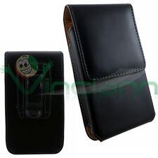 Custodia clip cintura eco pelle NERA per Samsung Galaxy S6 G920F magnetica CV3