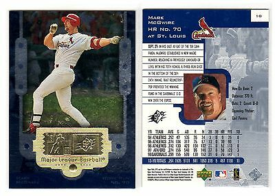 1X MARK MCGWIRE 1999 SPX  #10 HOME RUN 70 Cardinals NMMT Bulk Lot Available