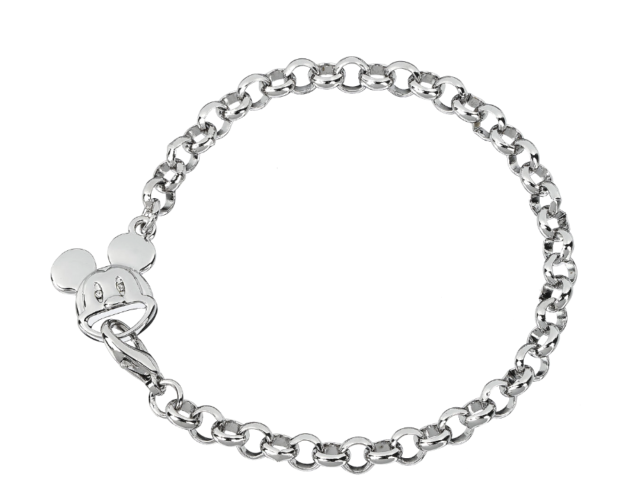 Arribas Disney Park Mickey Mouse Charm Bracelet Made wth Crystals from  Swarovski