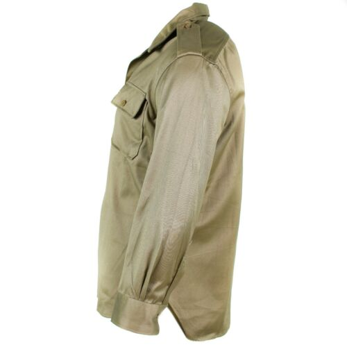 Genuine Greek army shirt fatigue dead stock chino khaki military jacket NEW