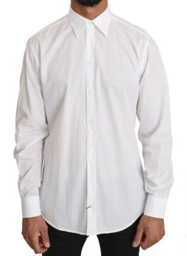 S RRP $300 39 DOLCE /& GABBANA Shirt White 100/% Cotton STAFF Dress s US15.5