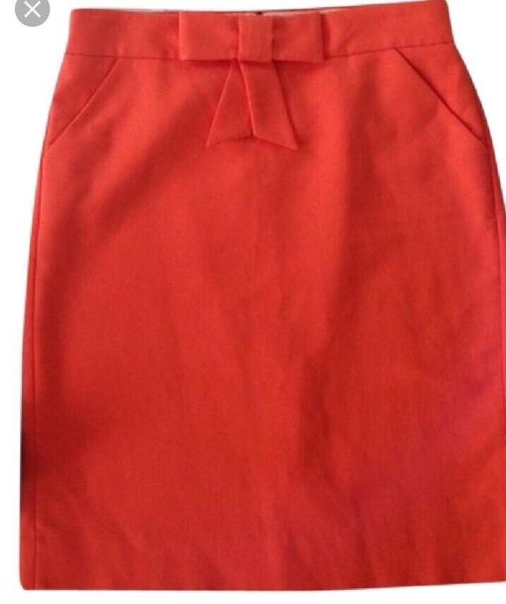 J.Crew Double Surge Pencil Skirt Bubblegum Pink Sz 2