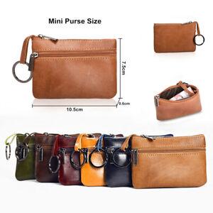 Women-Men-Leather-Mini-Coin-Change-Purse-Card-Key-Wallet-Zipper-Small-Soft-Bag