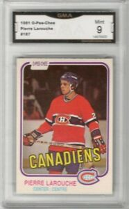 1981-82-O-Pee-Chee-187-Pierre-Larouche-Graded-MINT-9