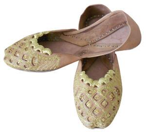Women-Shoes-Indian-Handmade-Leather-Designer-Ballet-Flats-Jutties-UK-2-5-EU-35