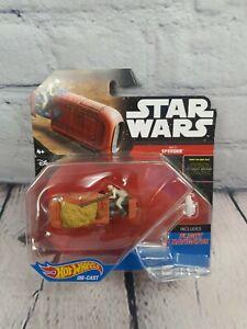 Star Wars The Force despierta. Hot Wheels. rey's Speeder. incluye navegador de vuelo