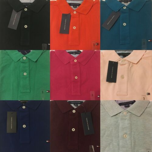 Tommy Hilfiger Polo Shirt Mens Classic Fit Mesh Knit Short Sleeve Casual