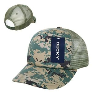 7e4e61ea240 Image is loading Woodland-Camo-Camouflage-Mesh-5-Panel-Military-Marines-